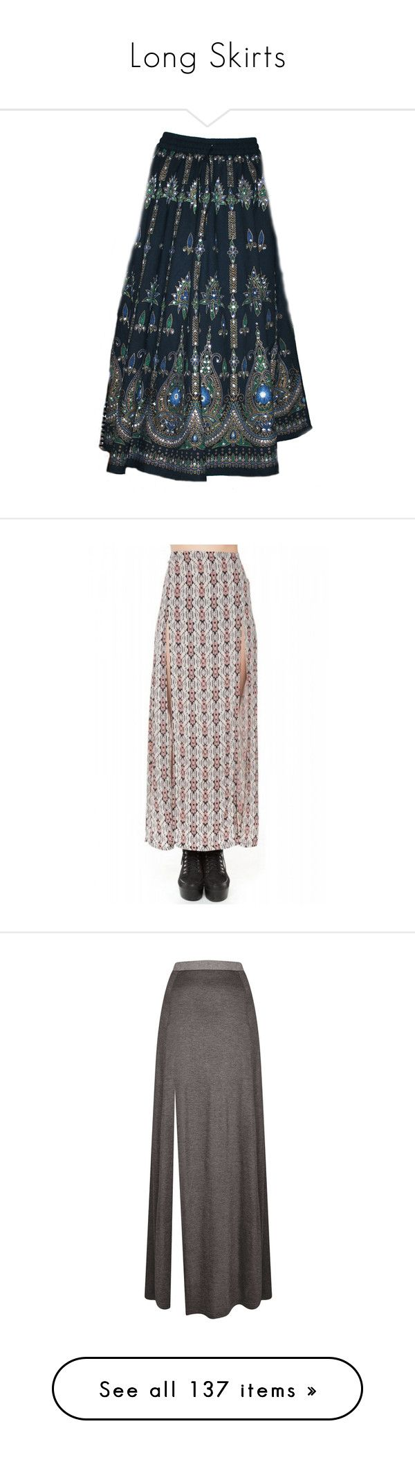 """""""Long Skirts"""" by alejandramalagon ❤ liked on Polyvore featuring skirts, bottoms, bohemian skirts, sequin skirt, long boho skirts, long sequin skirt, sequin maxi skirt, brandy melville, brandy melville skirt and saias"""