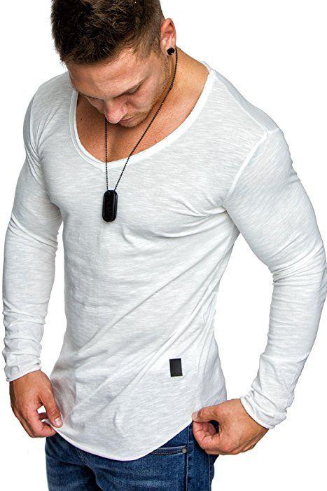 870cd0bfe04731 Amaci   Sons Oversize Herren Vintage T-Shirt Verwaschen V-Neck Basic V-Ausschnitt  Shirt 6034 Weihnachtsgeschenke