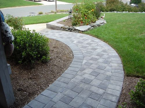 Front Brick Paver Patterns | designed paver stone pathways picture Expands Your Sense of Outdoor ...