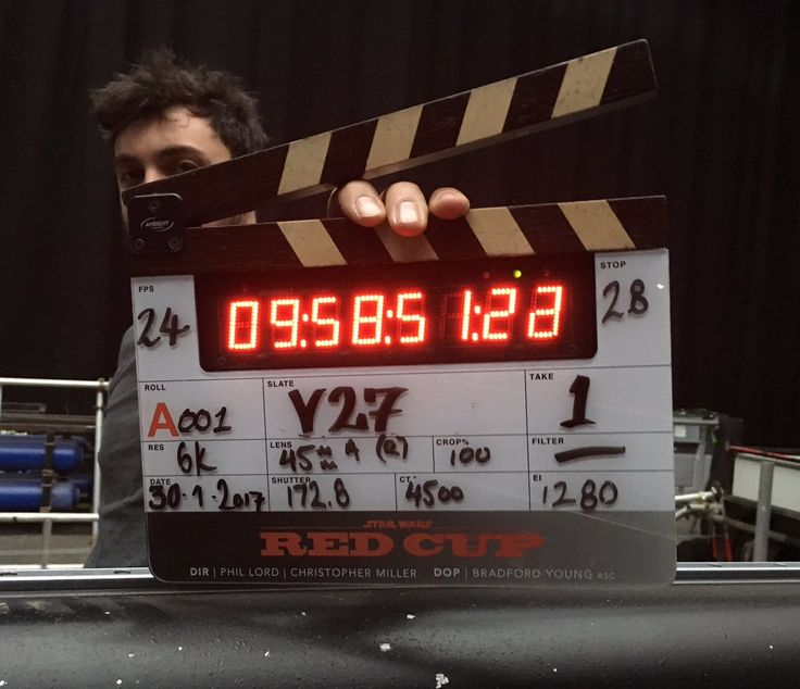 Co-director Chris Miller has shared a photo from the set of the upcoming Han Solo movie, which stars Alden Ehrenreich, Donald Glover, and Woody Harrelson.