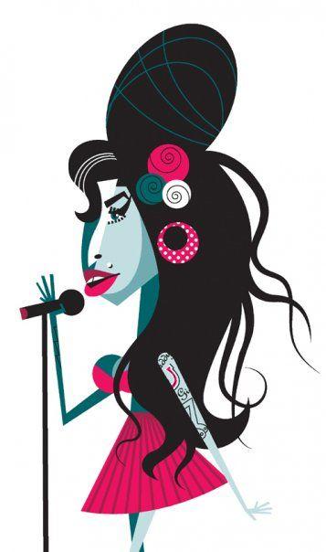 Chicquero Blog > Pablo Lobato graphic design illustration - amy winehouse
