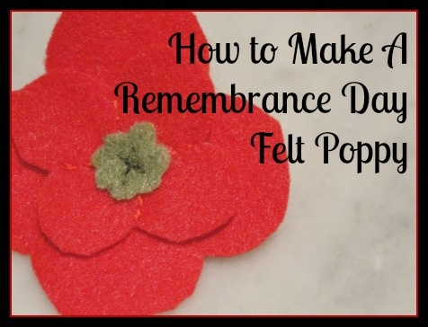 Super easy tutorial for making felt poppies, perfect for Remembrance Day.  #craft