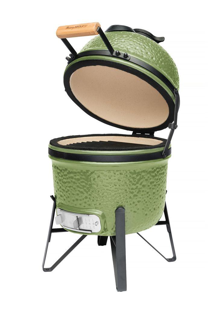 "Olive Green 13"" Ceramic BBQ"
