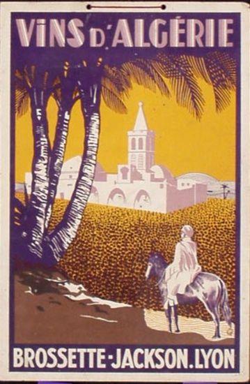 1920s Algeria's wines vintage advert poster