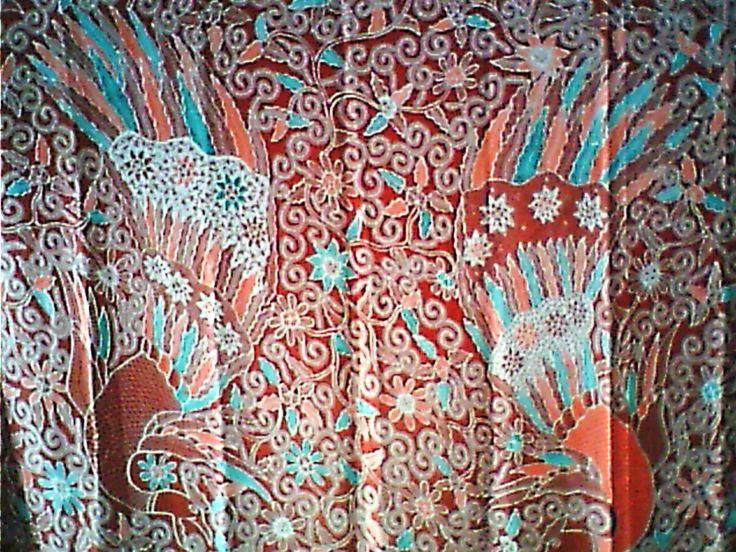 Batik Kebumen  merak-latar-ripandan