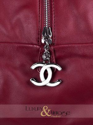 Chanel крупного размера наплечная сумка, сумка котелок Ligne-серебряные позолоченные цепочки