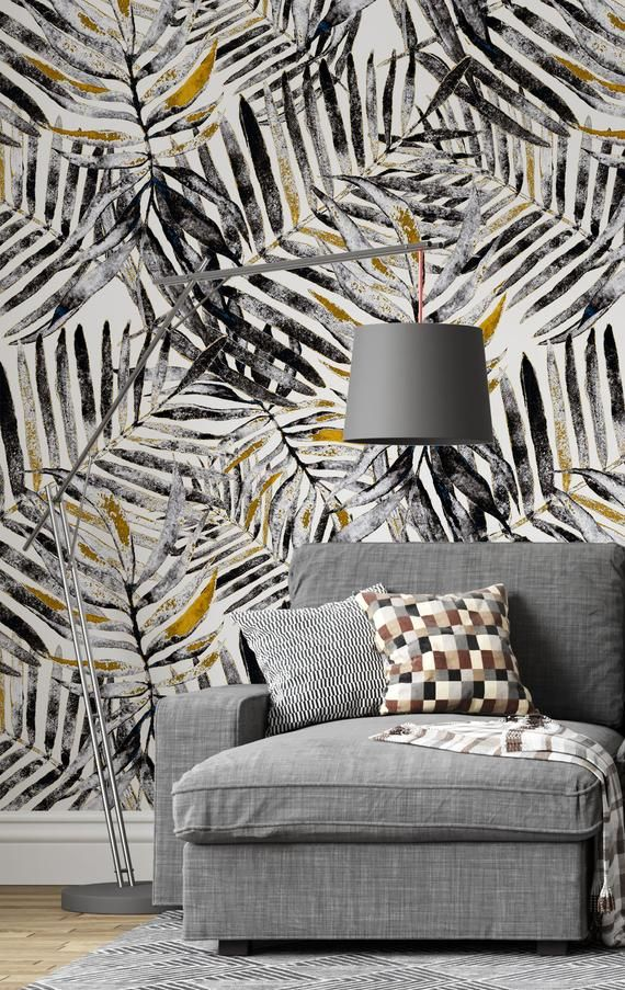 Peel And Stick Wallpaper With Palm Leaves Nature Wallpaper Etsy In 2021 Decorating Your Home Removable Wallpaper Wallpaper