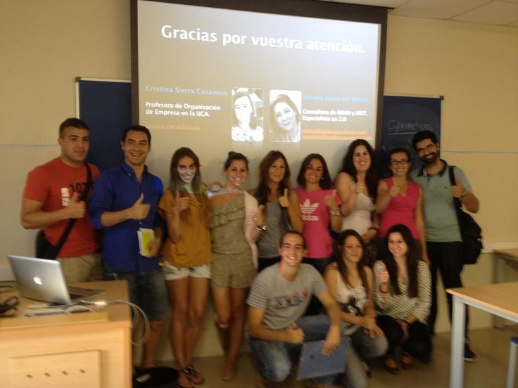 Grupo de alumnos del máster RRHH de la UCA. Módulos impartidos: Los RRHH y las NNTT. (Mayo-Junio 2013)