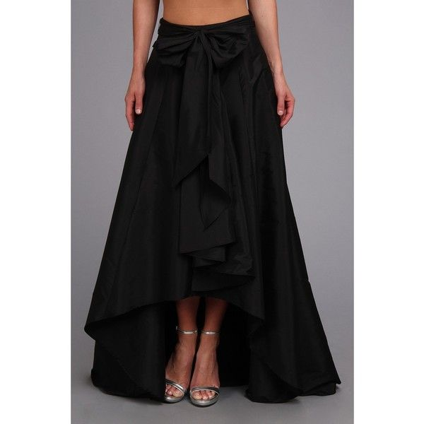 Adrianna Papell High-Low Ball Skirt Women's Skirt ($120) ❤ liked on Polyvore featuring skirts, bow tie belt, bow skirt, ball skirt, adrianna papell and hi lo skirt