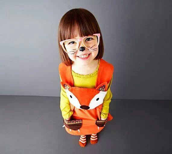 Cute girls fox outfit