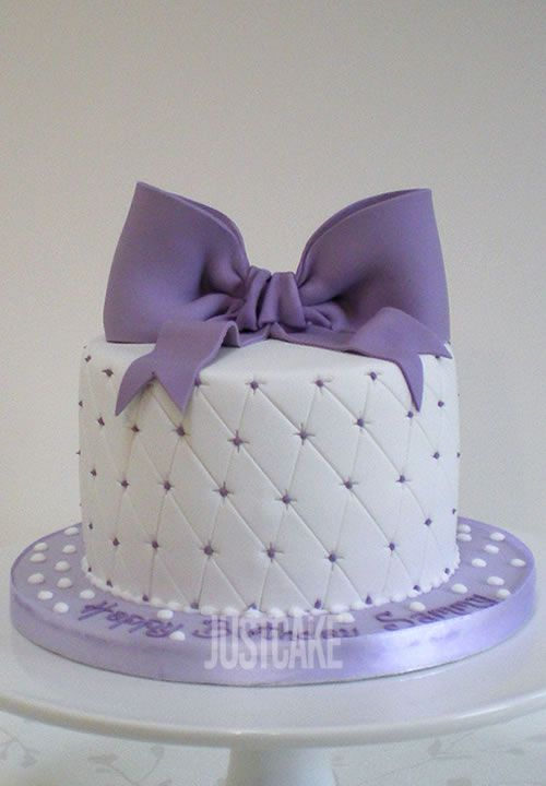 Purple Bow Birthday Cake by Just Cake Norfolk