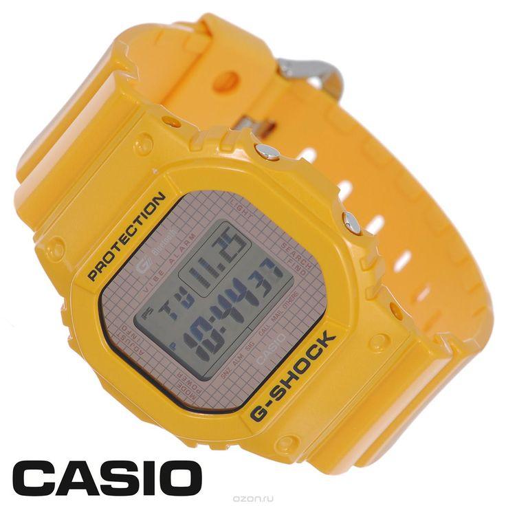 Часы мужские наручные Casio G-Shock, цвет: желтый. GB-5600B-9E