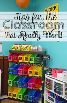 Classroom organization and tips for your classroom! Fantastic post! You will find at least one great new idea here!