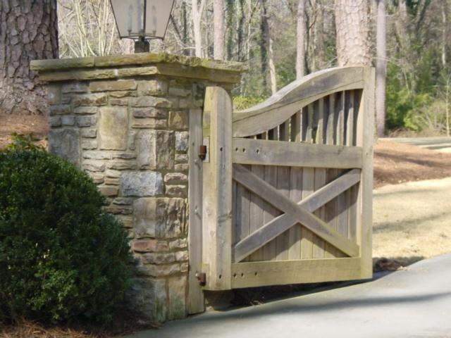 An example driveway gate - photos taken around Atlanta