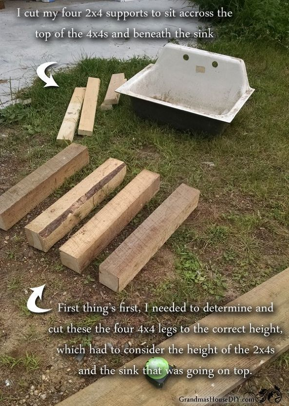 How To Build Your Own Kitchen Sink Base Rustic Kitchen Sinks Kitchen Sink Diy Diy Outdoor Kitchen