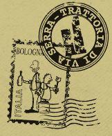 Trattoria di Via Serra. via Serra http://www.trattoriadiviaserra.it/ E' una piccola Trattoria di cui siamo già' innamorati, abbiamo circa 35 posti a sedere comodamente disposti in tre sale, legno al pavimento e alle pareti.  Insomma quello che stavamo cercando. Siamo sempre noi, i piccoli produttori che hanno collaborato con noi per tanti anni in montagna ci continuano a servire anche qua a Bologna e anche i nostri collaboratori Olga e Margherita ci hanno seguito in città.