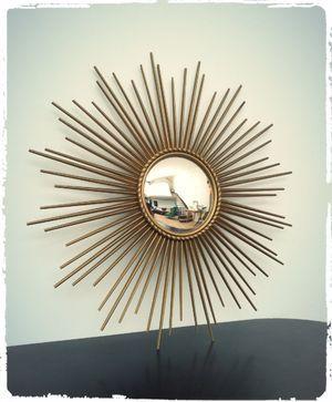 Grand Miroir Soleil Vintage Oeil de Sorciere Chaty Vallauris