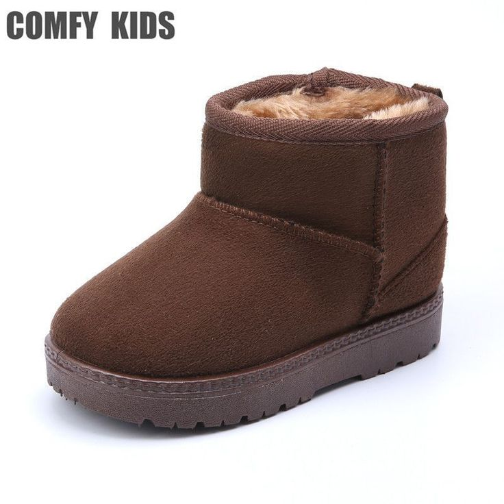 COMFY KID Winter Warm Child Snow Boots Shoes Plush Thicker Sole Boys Girls Snow Boots Shoes Size 22-33 Baby Toddler Shoes //Price: $15.02 & FREE Shipping //     #GAMES #toddlersnowbootsboy