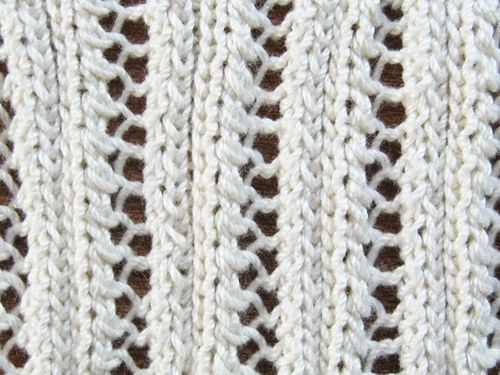 Eyelet Lace Ribbing Knitting Pattern Knitting Pinterest Lace, Posts and...