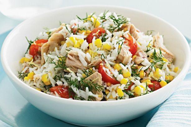 Tuna & corn rice salad
