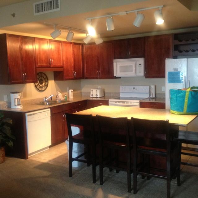 PCB condo kitchen @ wharf town village