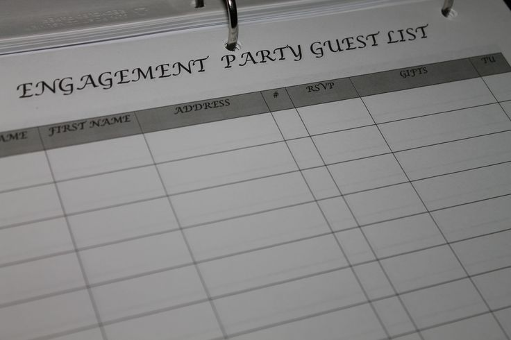 Engagement Party Guest List is the perfect template to organize - guest list template