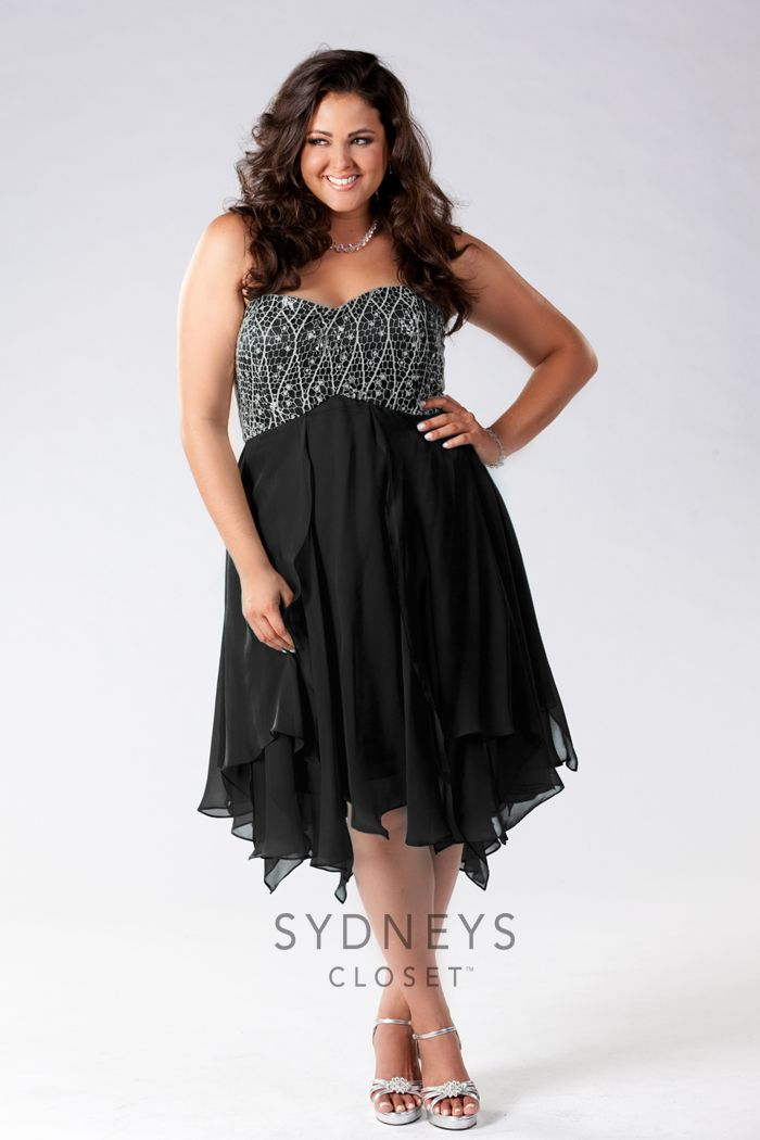 2b62884f924e4 Pin by Sydney s Closet on Plus Size Cocktail Dresses