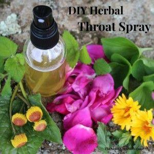 DIY Herbal Throat Spray Recipe | The Nerdy Farm Wife