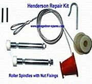 Henderson Kit Spindles Garage Door Spares KitThe UK's Favourite for all your Garage Door Repairs  Garage Door Cones and Cables, Springs, Roller Spindles, Remotes, Locks and Handles Garage Door Spares - Low Prices and Fast Delivery!