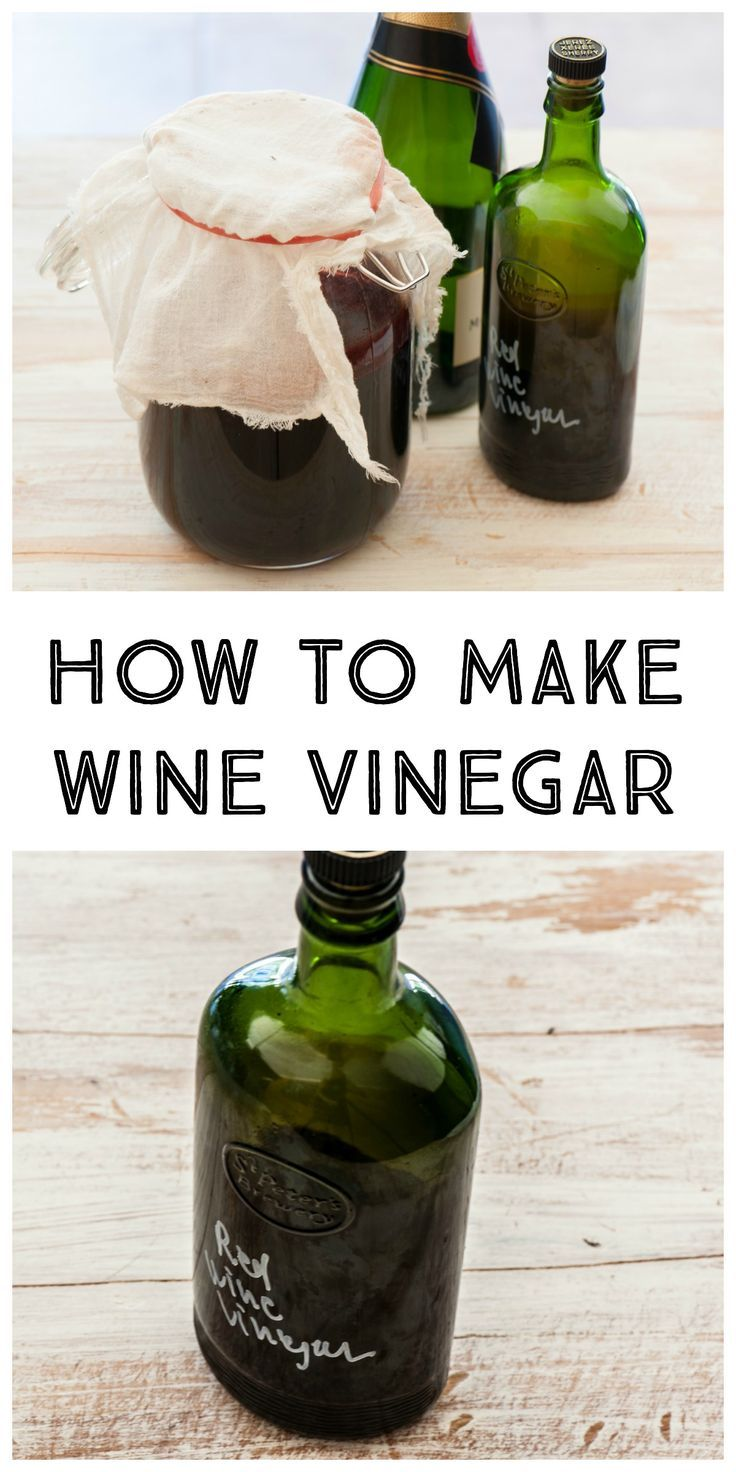 Click here to learn how to make your own wine vinegar!