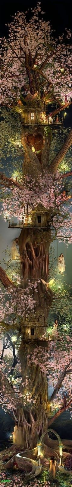 fairy treeFantasy, Fairies Home, Tree Houses, Fairies Trees House, Fairies Gardens, Dreams House, Fairies House, Treehouse, Fairies Tales