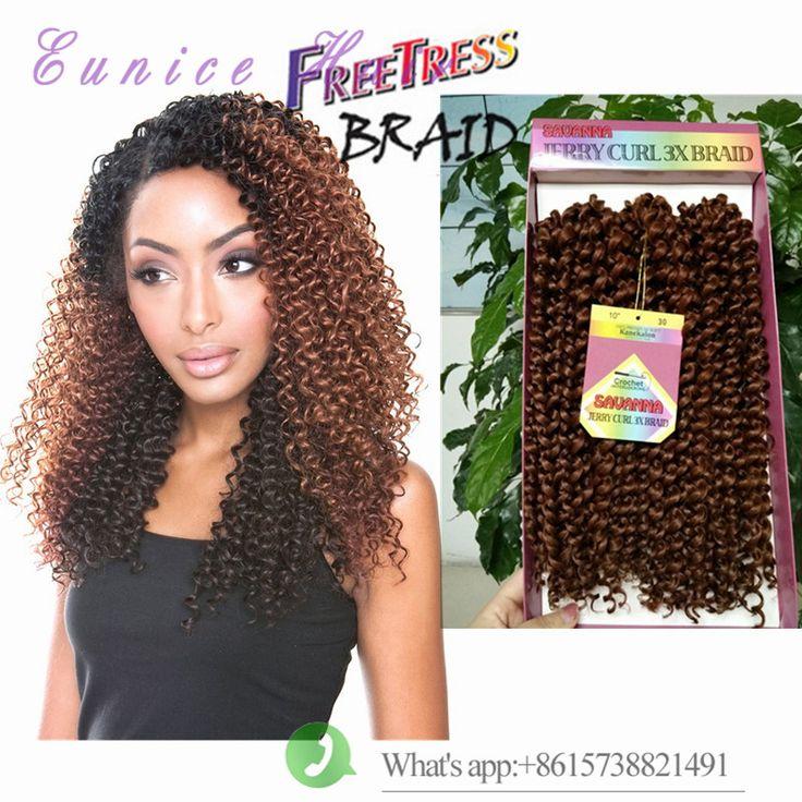 crochet braid hair savanna jerry curl braids synthetic braiding hair