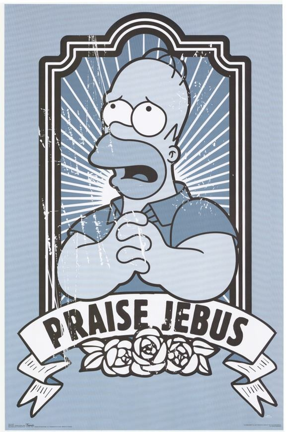 Save me Jebus!!  The Simpsons