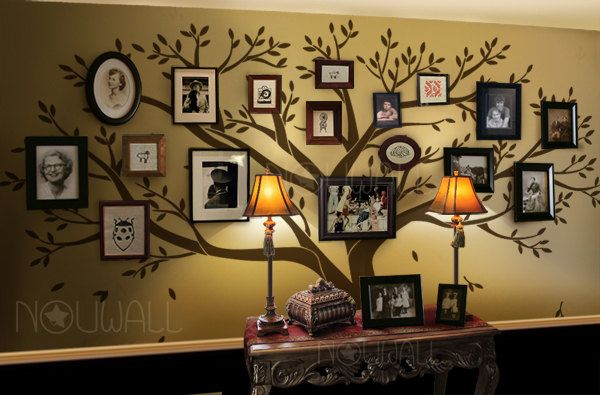 Tree Wall Decals Wall Stickers - Family Tree Wall decal - Photo frame tree decal. $150.00, via Etsy.