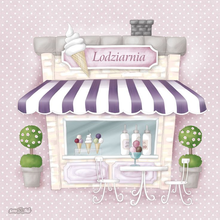 Little Shoppe - ice-cream shop - picture and poster for children - www.smooki.pl