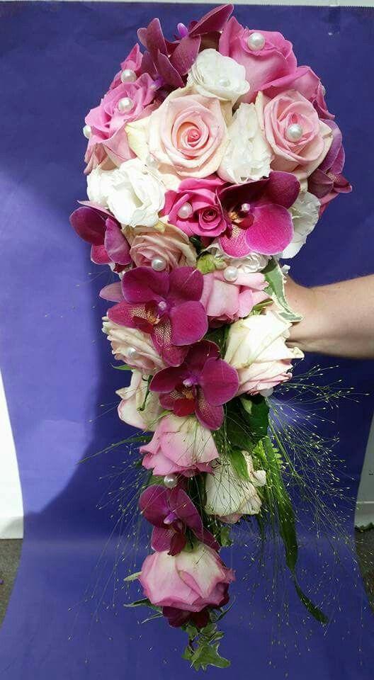 Lila Orchideen - Rosa Rosen