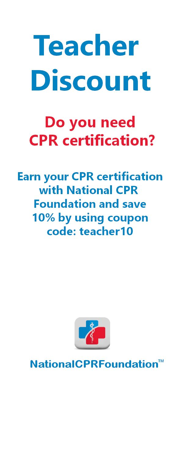 Best 25 cpr training ideas on pinterest cardiopulmonary do you need cpr certification and youre a teacher visit nationalcprfoundation xflitez Choice Image