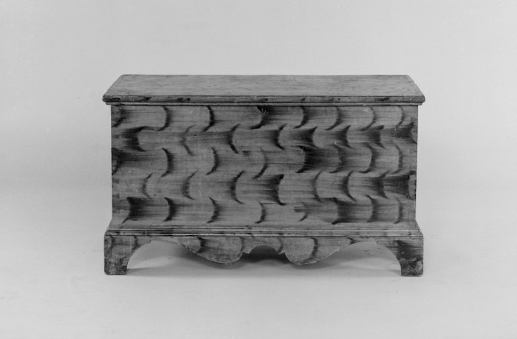 American. Blanket Chest with Bracket Feet, 1800-1825. Painted poplar, metal hardware, 21 5/8 x 37 1/4 x 17 3/4 in. (54.9 x 94.6 x 45.1 cm). Brooklyn Museum, Gift of Colonel and Mrs. Edgar William Garbisch.