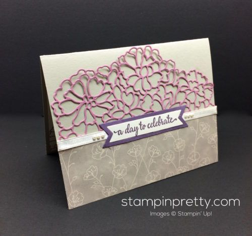 So In Love stamp set & So Detailed Thinlits Dies congratulations card.  Mary Fish, Stampin' Up! Demonstrator.  1000+ StampinUp & SUO card ideas.  Read more http://stampinpretty.com/2016/12/inspired-by-color-so-in-love-card.html