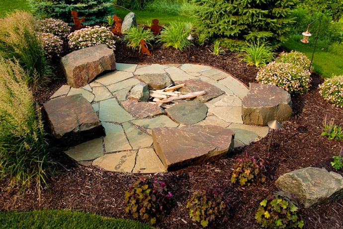 78 Images About Cabin Fire Pit Ideas On Pinterest Rock