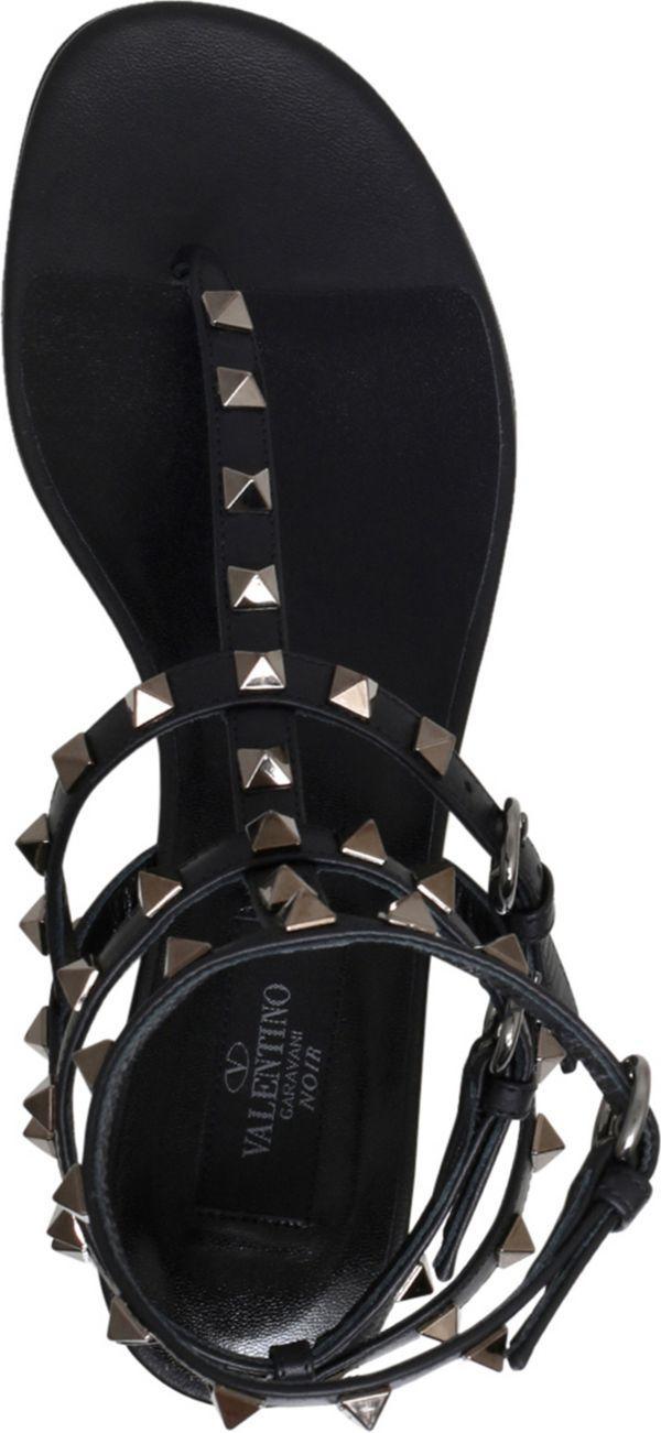 VALENTINO - Rockstud leather gladiator sandals   Selfridges.com