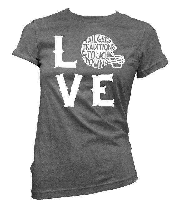 Love of Football tshirt by RubysRubbish on Etsy