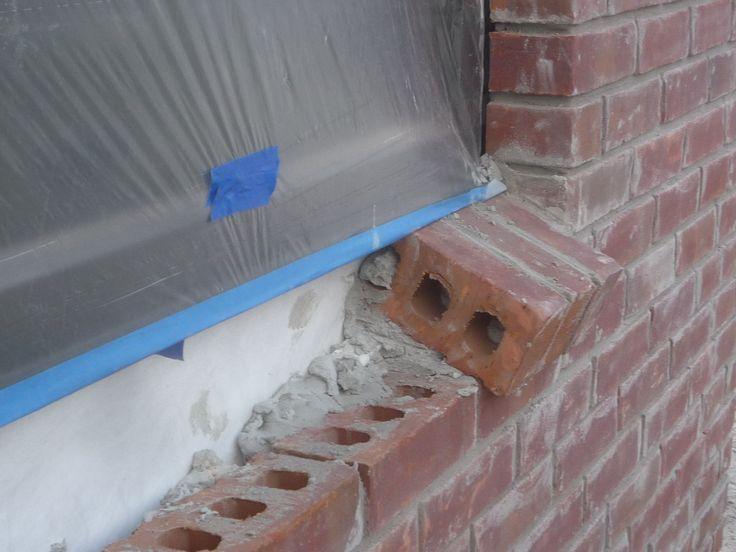 No Sill Dam Flashing At Brick Veneer Window Building