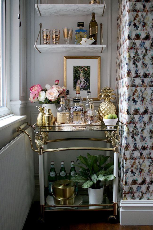 how to create the perfect bar cart style