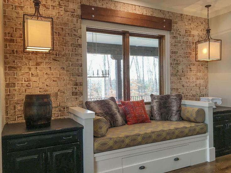 Add Style To Your Indoor Spaces With Brick Veneer. Shown Here: Oyster Pearl  Thin