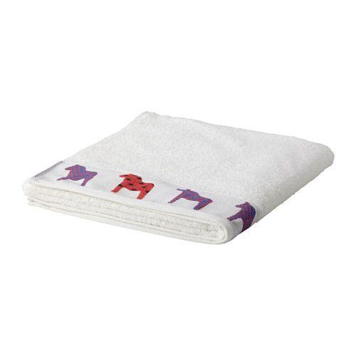 IKEA - ХОРНЕН, Банное полотенце, Мягкое махровое полотенце средней толщины прекрасно впитывает влагу (плотность 500 г/м²).