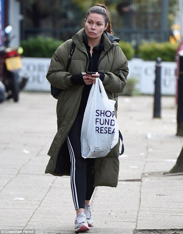 Low-key:Alison King took a break from Coronation Street filming to visit a charity shop i...