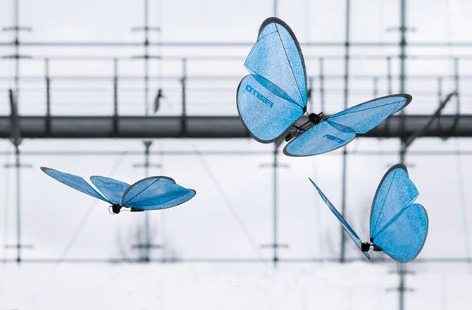 Winged Drones Fly Beautifully as Butterflies | There are many robots inspired by nature, but few of them actually look and move like the real thing. The eMotionButterflies from German robotics company Festo are an exception. These beauties could almost be mistaken for the real thing. (+video)