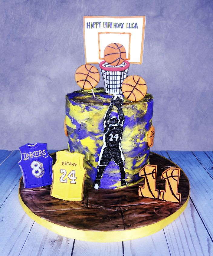 Kobe cake in 2020 Basketball cake, Cake, Cake pop recipe