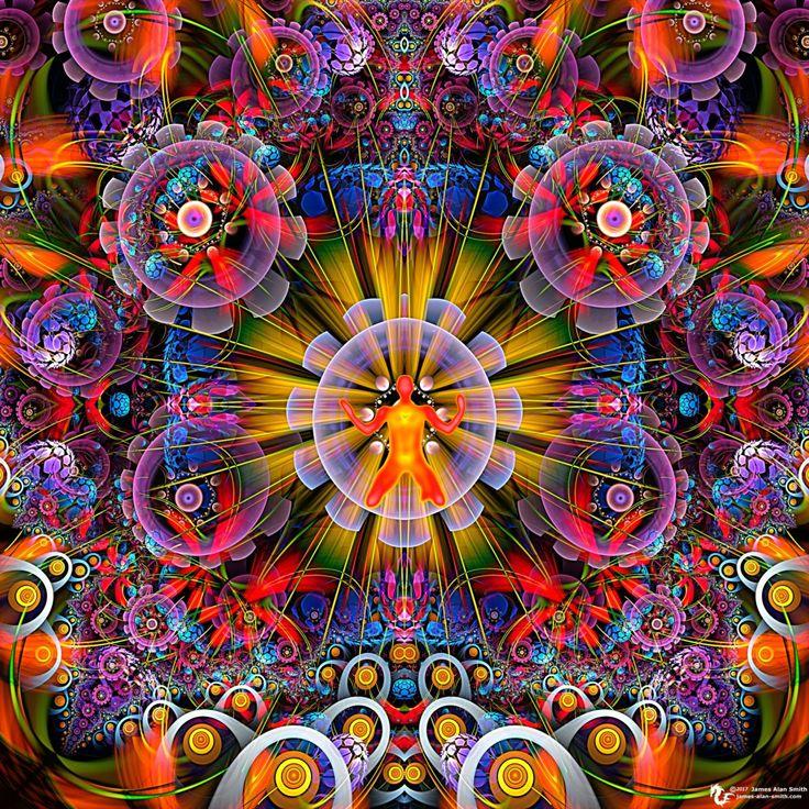 раскрывает получается психоделические фото фракталов левой
